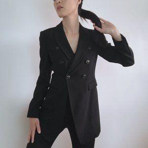 ARMANI COLLEZIONI Chic Long Black Blazer 2
